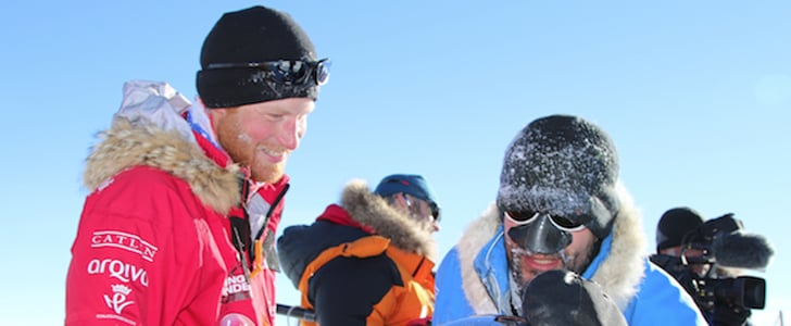 Prince Harry at the South Pole   Picture