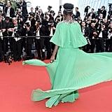 Lupita Nyong'o Green Dress at Cannes Film Festival 2015