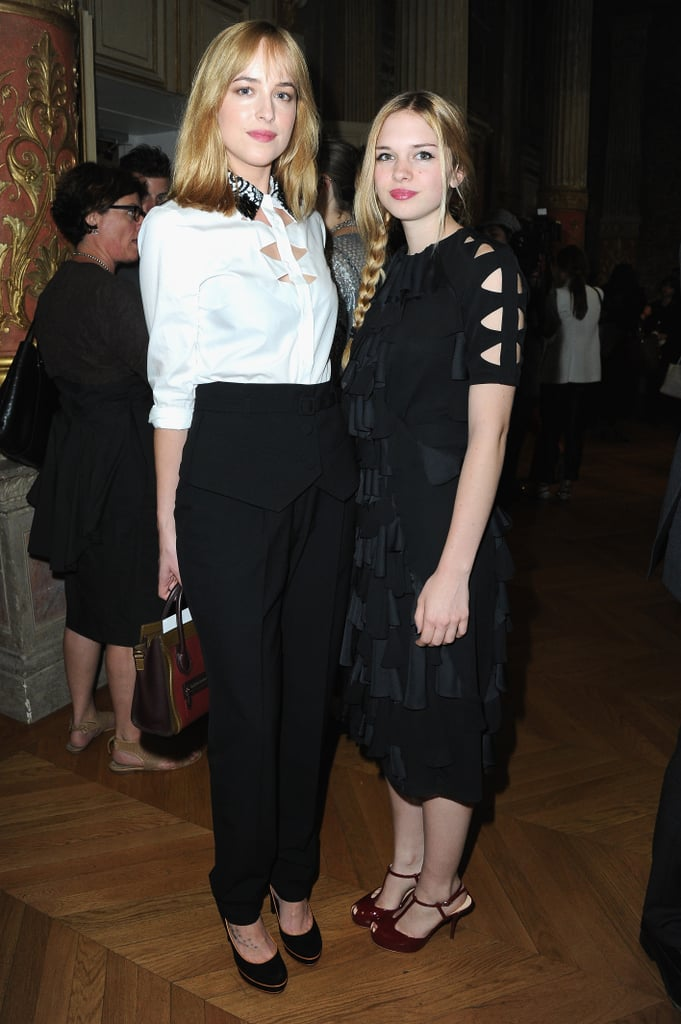 Sisters Dakota Johnson and Stella Banderas attended the Viktor & Rolf show on Wednesday together.