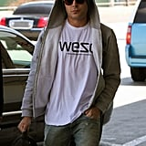Zac Efron headed out of LAX on a flight.