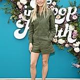 Gwyneth Paltrow Wearing a Green Jumpsuit