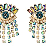 Betsey Johnson Colorful Evil Eye and Fringe Earrings ($26, originally $38)