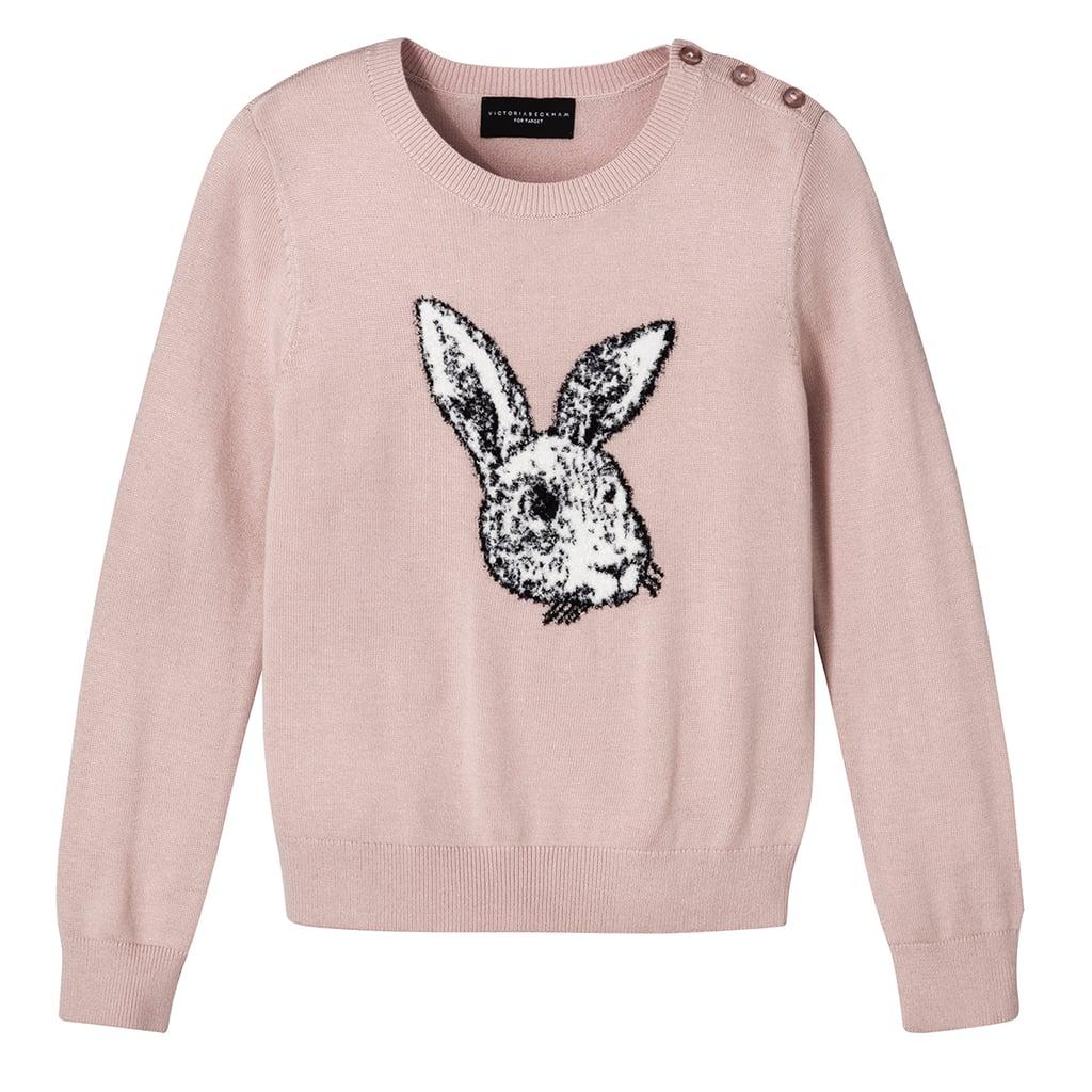 Girls' Blush Bunny Sweater  ($23)