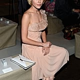 Sitting pretty at the Donna Karan NYFW show in Sept. 2012.