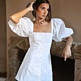 Danielle Bernstein Puff Sleeve Mini Dress