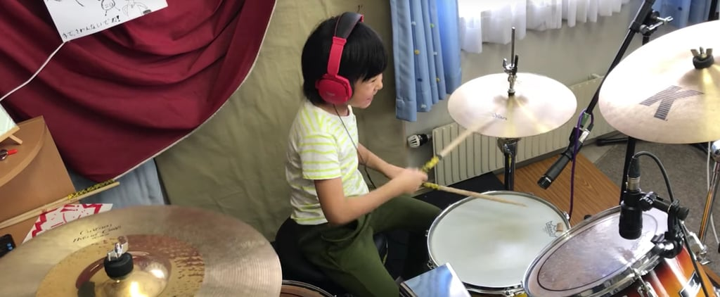 8-Year-Old Girl From Japan Playing Led Zeppelin on Drums