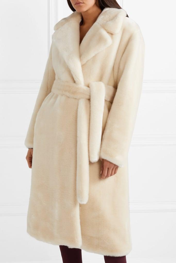 0c2b2861a137 Tibi Luxe Oversized Faux Fur Coat