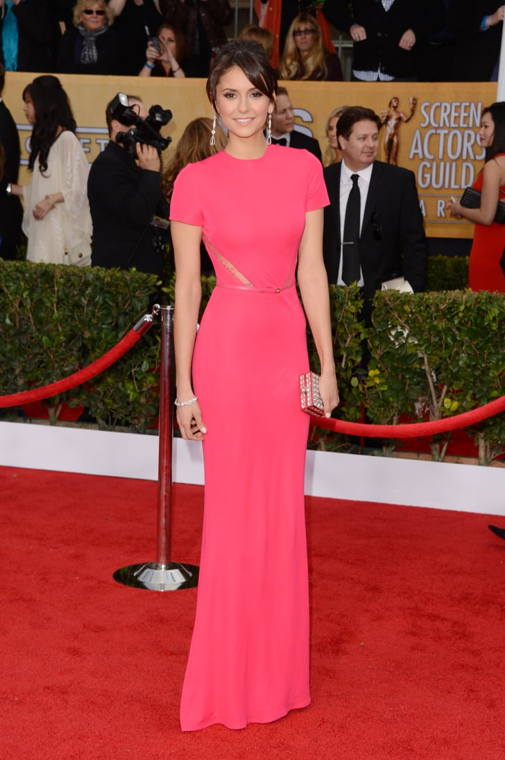 Nina Dobrev punched up the 2013 SAG Awards red carpet in a ...