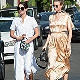 When searching for a springtime dress, opt for white like Lily Aldridge or go vintage like Behati Prinsloo.