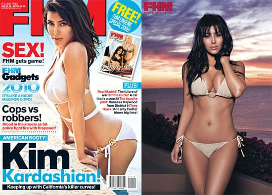 Kim Kardashian Bikini Photos in FHM South Africa November 2009