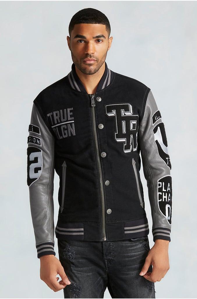 True Religion Collegiate Moleskin Mens Varsity Jacket ($599