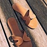 Violeta by Mango Stich Leather Sandals