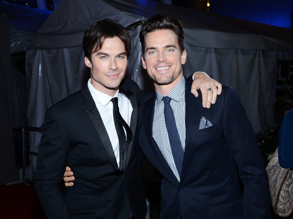 Ian Somerhalder had his arm around Matt Bomer at the People's Choice Awards.