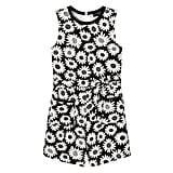 Girls' Black Mini Daisy Tie Waist Romper  ($25)