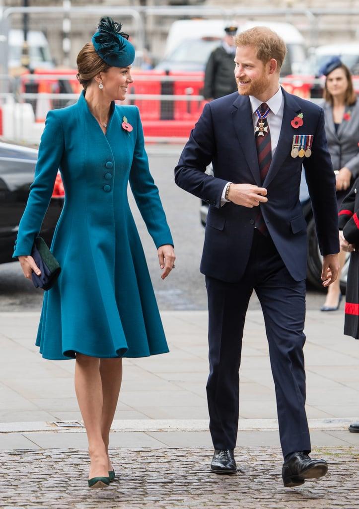 Kate Middleton Teal Coat Anzac Day April 2019