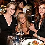 Meryl Streep, Jennifer Aniston, and Julia Roberts came together for a powerful photo, and the universe kind of imploded.