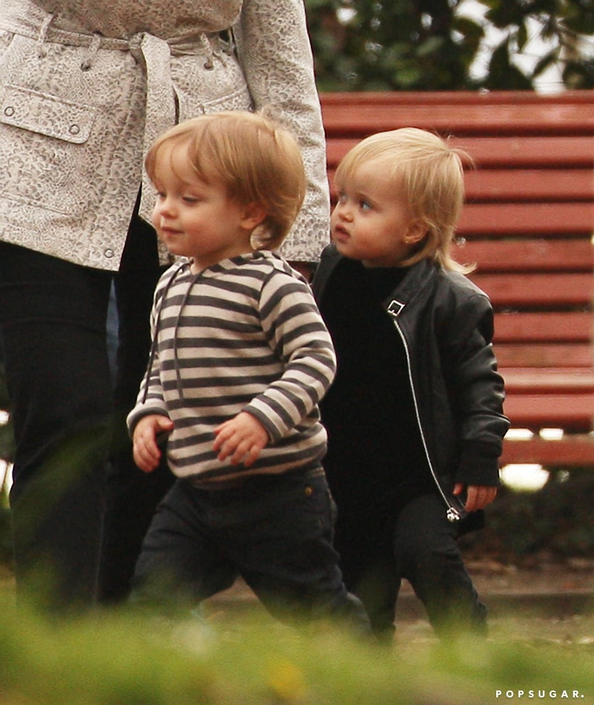 In April 2010, Knox Jolie-Pitt and Vivienne Jolie-Pitt played together at a park in Venice.