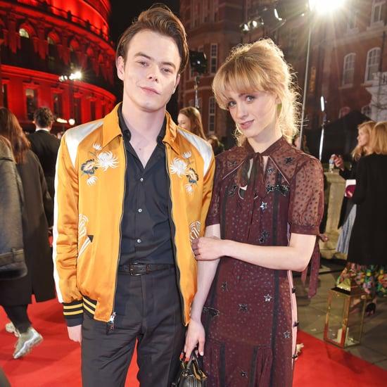 Charlie Heaton and Natalia Dyer at the 2017 Fashion Awards