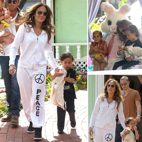Jennifer Lopez Takes Max, Emme, and Casper to Visit the Easter Bunny