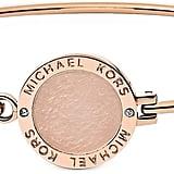 Michael Kors Heritage Rose Gold-Tone Logo Bangle