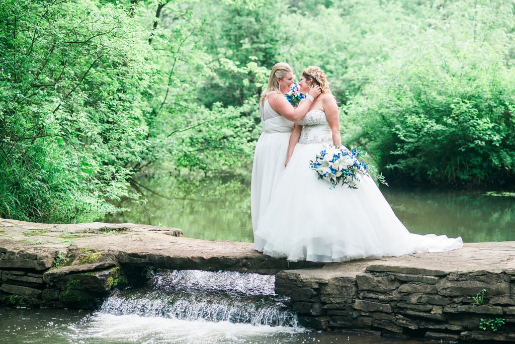 Kristal and Stacie truly had a wedding to remember. Green Gables in Pennsylvania set a fairy-tale-like experience, and guests were even surprised at the end of the night with fireworks. See the wedding here!