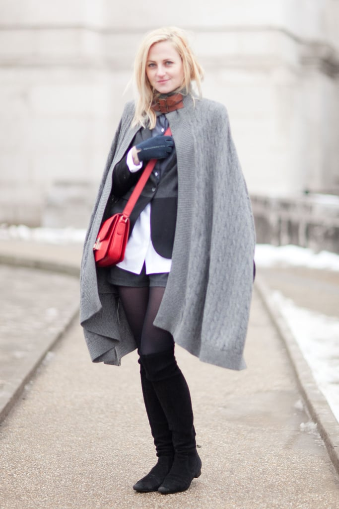 It's not always about the individual piece, but how you put them together — that's especially the case with this skilled exercise in Winter layering. Source: Adam Katz Sinding