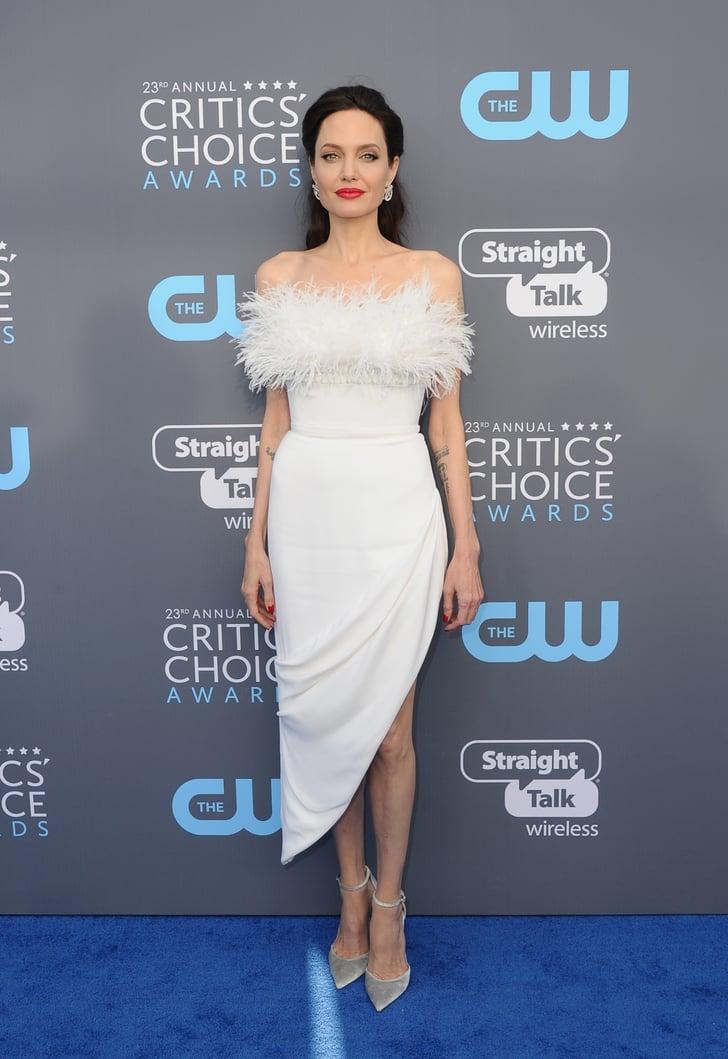 Angelina Jolie Critics Choice Awards Sexiest Dresses