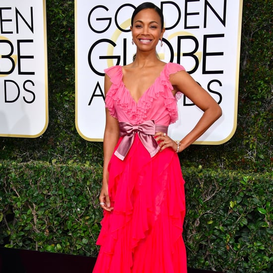 Zoe Saldana's Gucci Dress at the 2017 Golden Globes