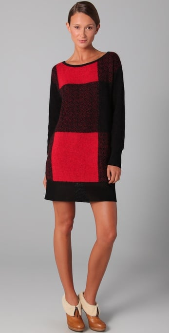 We're smitten with the bold oversized plaid print.  Viktor and Rolf Plaid Sweater Dress ($595)