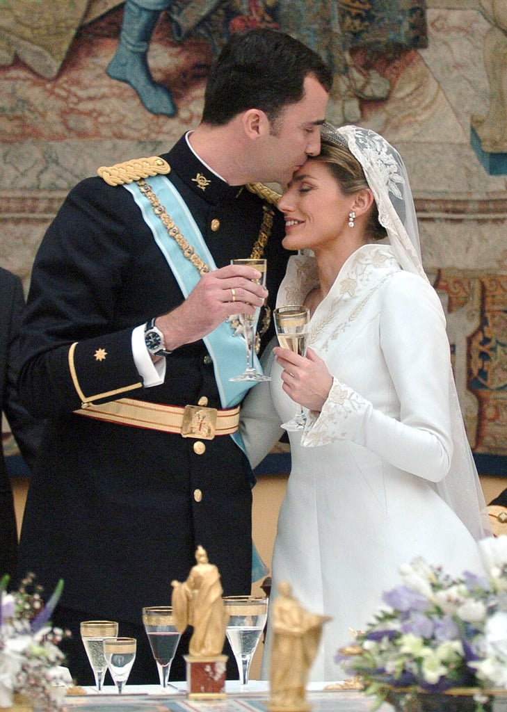Who Designed Queen Letizia of Spains Wedding Dress POPSUGAR