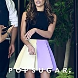 Lea Michele arrived at the Four Seasons along with Jane Lynch and Matthew Morrison.