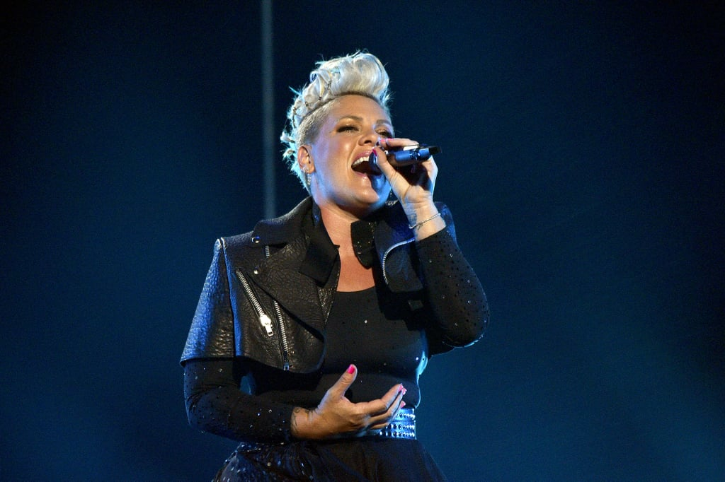 """Pink brought down the house with a powerful performance at the Billboard Music Awards on Sunday night. Ahead of receiving the icon award during the show, the 41-year-old """"All I Know So Far"""" singer performed a medley of some of her greatest hits on stage. Pink started the number alongside her 9-year-old daughter Willow Hart as the two got on a trapeze while """"Cover Me in Sunshine"""" played in the background. Following the emotional opener, Pink performed hits like """"So What,"""" """"Who Knew,"""" """"Just Give Me a Reason,"""" and more with a band on stage.  The performance marked her first time on the BBMAs stage in five years. """"As a little girl, I always dreamed about being a singer and sharing my love of music with the world,"""" Pink previously said in a statement about receiving the icon award. """"Years later, to receive the Billboard Music Awards Icon Award is hard to fathom! I feel so honoured to join the ranks of music idols like Cher, Garth Brooks, Janet Jackson and Stevie Wonder. It's a true 'pinch me' moment and I feel humbled and blessed."""" Watch a clip of her incredible performance ahead.       Related:                                                                                                           Everything We Know About Pink's Adorable Kids, Willow and Jameson"""