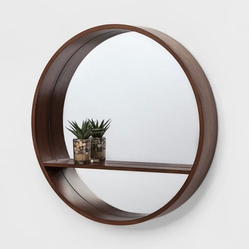24 Walnut Round Barrel Decorative Wall Mirror With Shelf Target Home Decor Gifts Popsugar Home Australia Photo 39