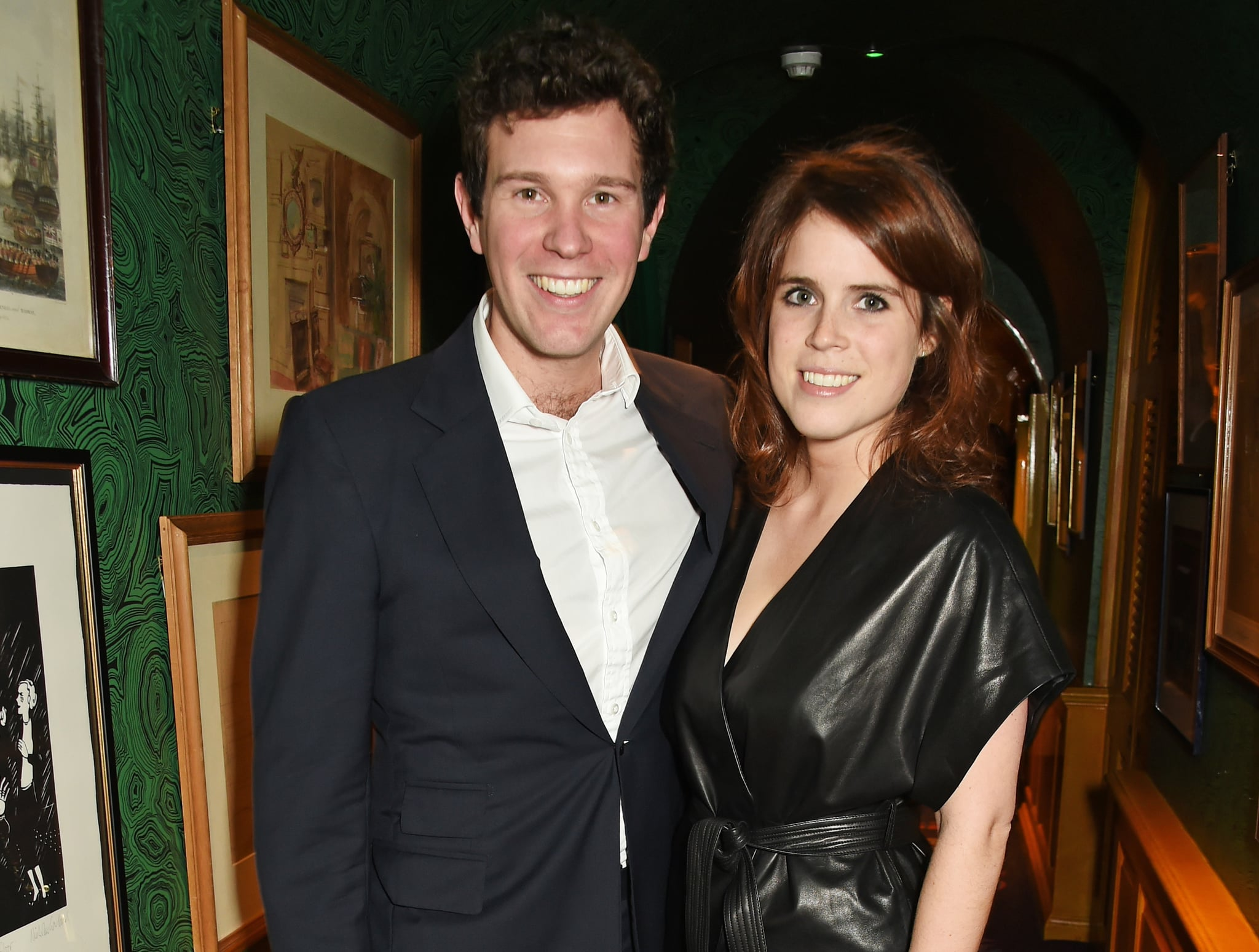LONDON, ENGLAND - JANUARY 26:  Princess Eugenie of York (R) and Jack Brooksbank attend the launch of GP Nutrition Supplements, a collection of five premium nutritional programmes perfect for modern living, at Annabels on January 26, 2016 in London, England.  (Photo by David M. Benett/Dave Benett/Getty Images for Gabriela Peacock)
