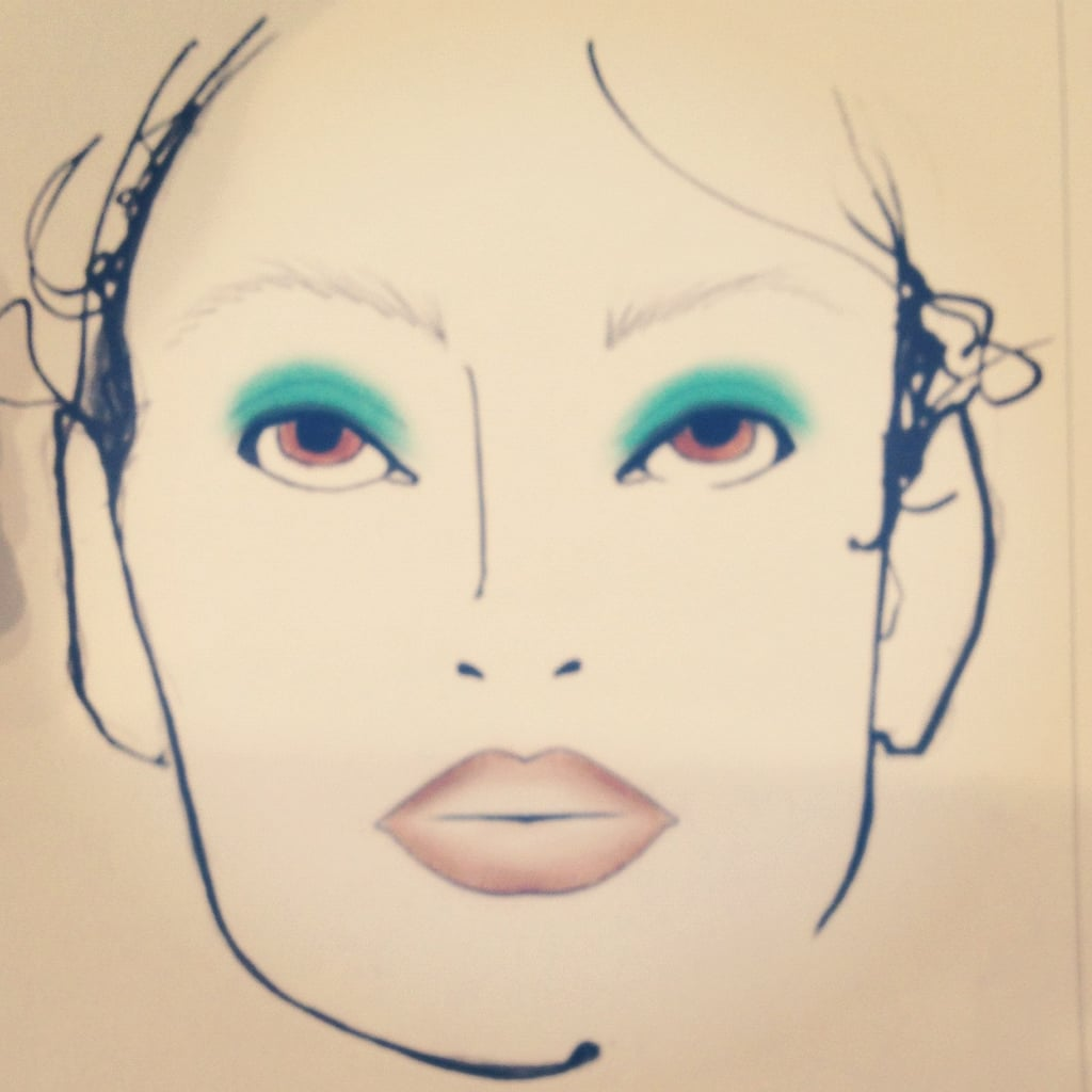 Nanette Lepore embraced the bold eye-makeup trend for her Spring 2013 collection.