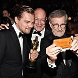 They snapped a selfie with Steven Spielberg.