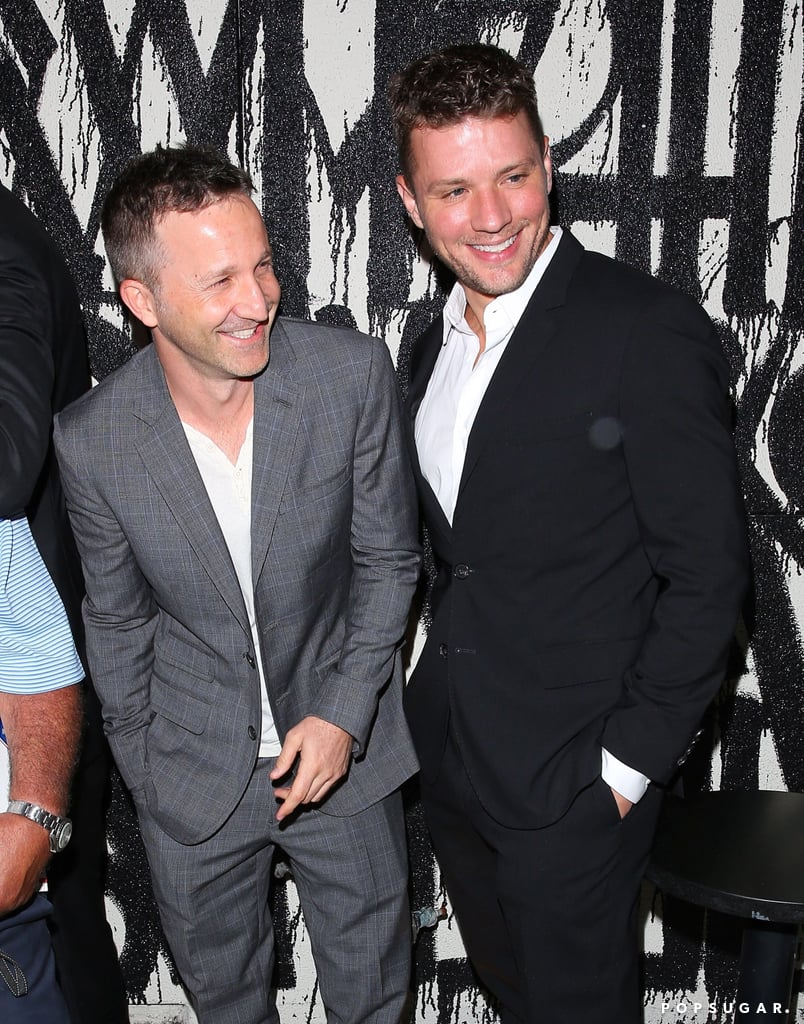 """Ryan Phillippe, Breckin Meyer, and Jesse Bradford linked up for a memorable night out at Craig's restaurant in LA on Thursday. The actors —who you likely crushed on hard back in the '90s and early 2000s —commemorated their 400th weekly boys' dinner at the eatery, along with a group of guys that included producer Jesse Stern and talent manager Brian Washington. Breckin, Jesse, and Ryan were all smiles while being photographed outside and shared a few group snaps of the fun night on Instagram; one shot, posted by the restaurant's account, showed an upside-down bottle of Casamigos tequila with the caption, """"Second bottle down.....its a party."""" Looks like the George Clooney-owned liquor didn't stand a chance. Keep reading for more photos of Ryan and Breckin's boys' night out, and be sure to check out the 20 types of swag that Ryan Phillippe possesses."""