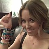 Lauren showed off her wrist full of bracelets.  Source: Twitter user laurenconrad