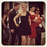 Becky caught the Once Upon a Time stars taking a stroll before their panel.