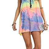 Romwe Tie-Dye T-Shirt Dress