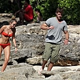 Liam Hemsworth and Miley Cyrus took off.