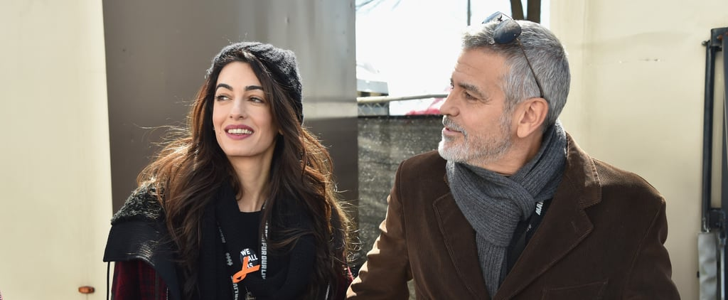 Amal Clooney Bundled Up in a Low-Key Ensemble at March For Our Lives