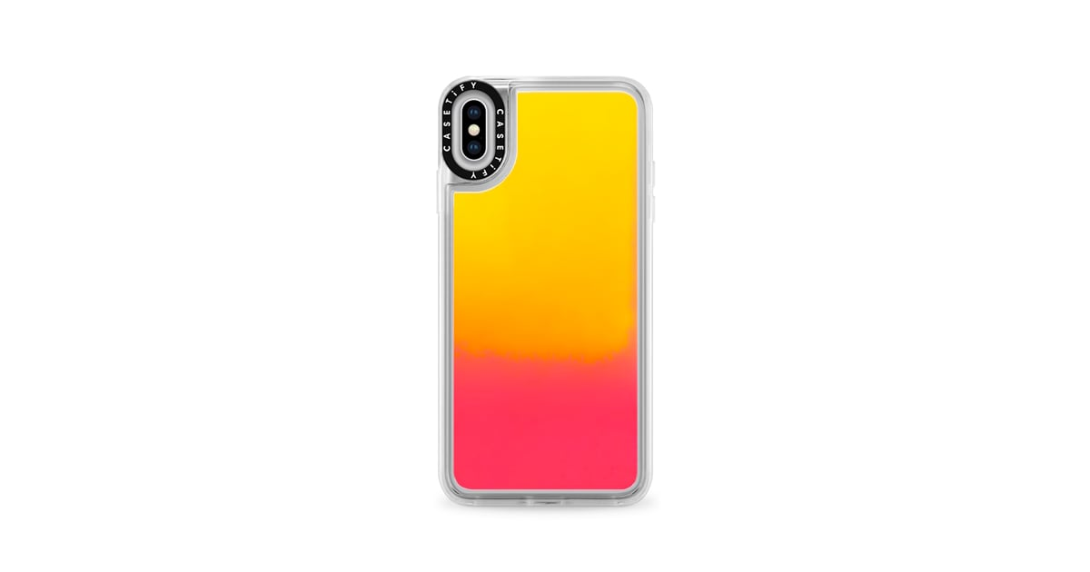 new styles 47c95 1d90f Casetify Neon Sand Liquid Case | iPhone XS Max Cases | POPSUGAR ...