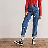 Hello Kitty x Lazy Oaf Kitty Emb Jeans ($96)