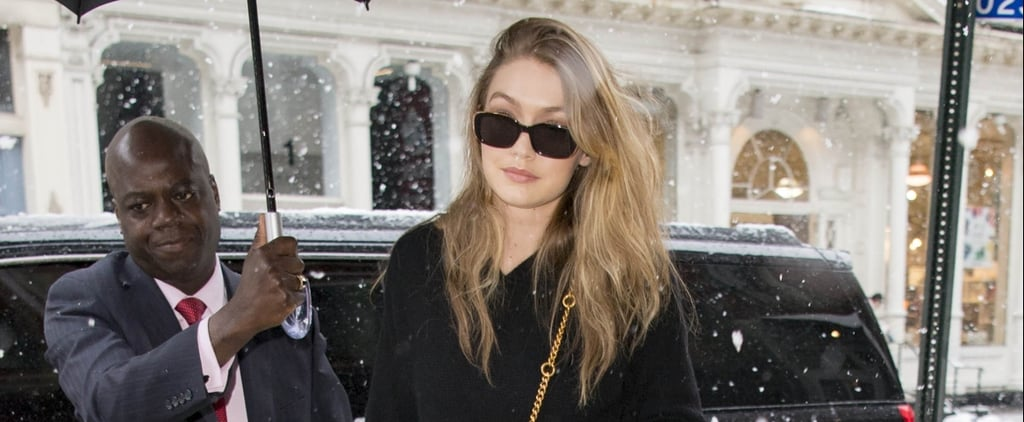 Give Gigi Hadid an All-Black Outfit, and She'll Jazz It Up With a Fuzzy Bag and Glitter Booties