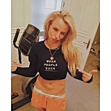 Britney Spears sporting some truthful workout wear.
