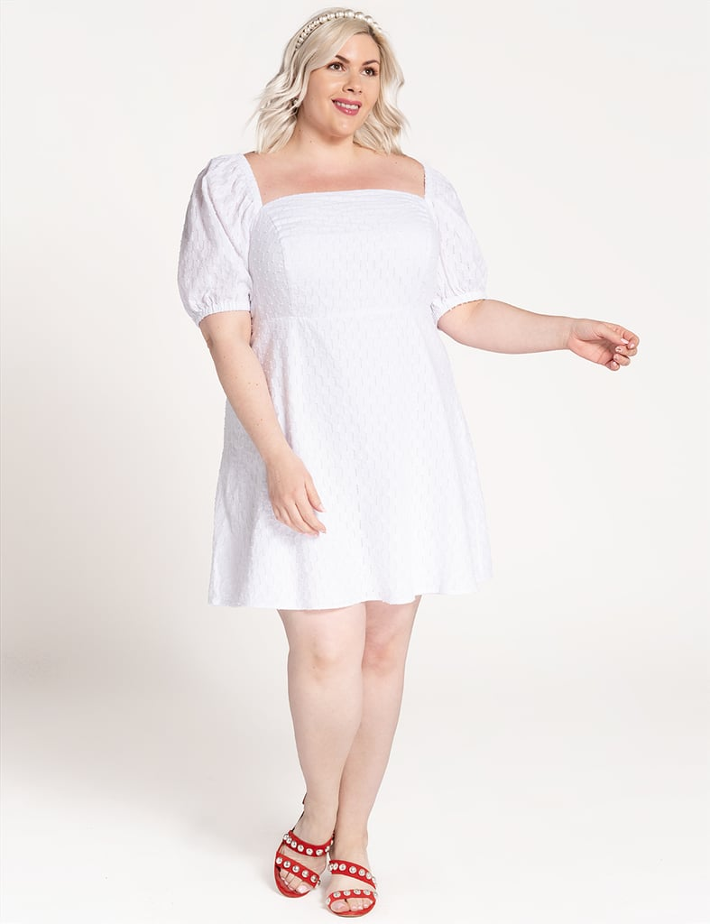 ELOQUII Puff-Sleeve Dress