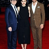 On Monday, Keira Knightley and Chris Pine posed with director Kenneth Branagh at the London premiere of Jack Ryan: Shadow Recruit.