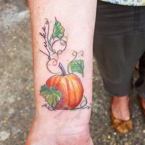 Halloween Pumpkin-Themed Tattoos
