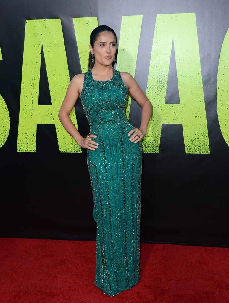 Blake Lively and Salma Hayek Pictures at Savages Premiere